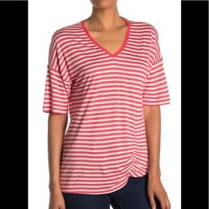 NWT Jersey Striped Kenneth Cole Top